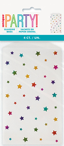 Rainbow Stars Glassine Bags