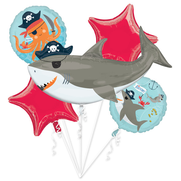 Ahoy Birthday Foil Balloon Bouquet