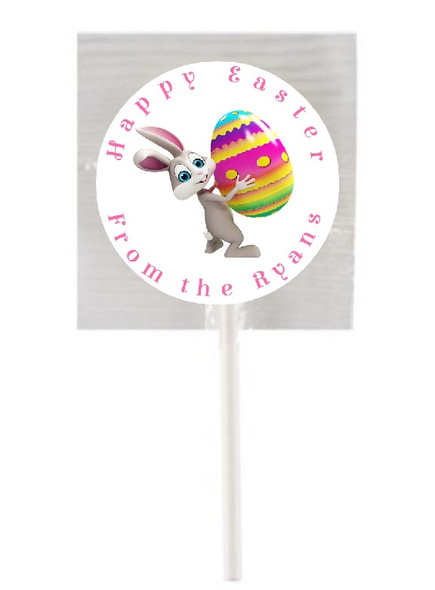 15Pk Personalised Easter Bunny Lollipops