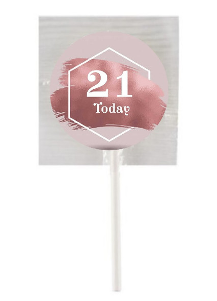 15Pk Rose Gold Age Lollipops