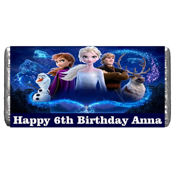 7Pk Personalised Disney Frozen Chocolate Bars