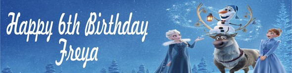 Personalised Disney Frozen Banner
