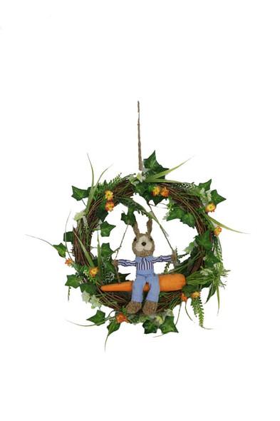 Hanging Bunny Rabbit Wreath
