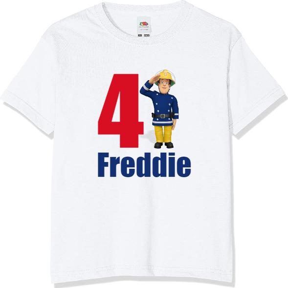Personalised Fireman Sam T-shirt