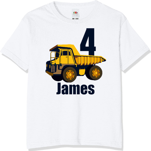 Personalised Construction T-shirt