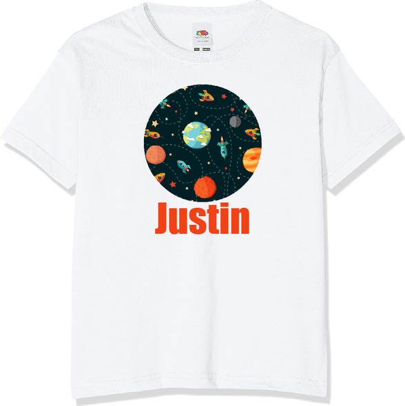 Personalised Space T-shirt