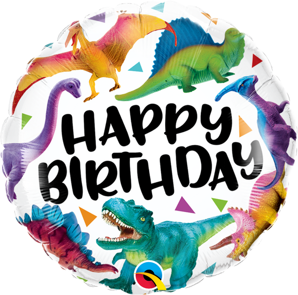 Happy Birthday Dinosaurs Foil Balloon