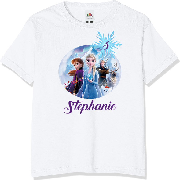 Personalised Frozen T-shirt