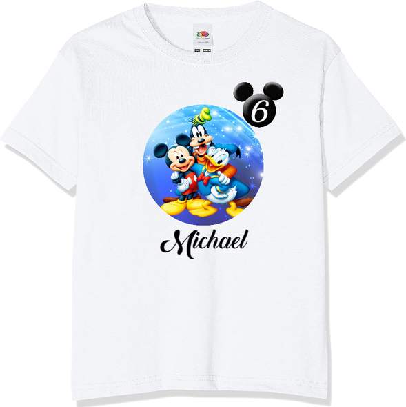Personalised Mickey Mouse T-shirt