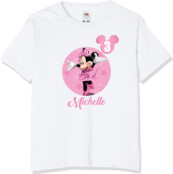 Personalised Minnie Mouse T-shirt
