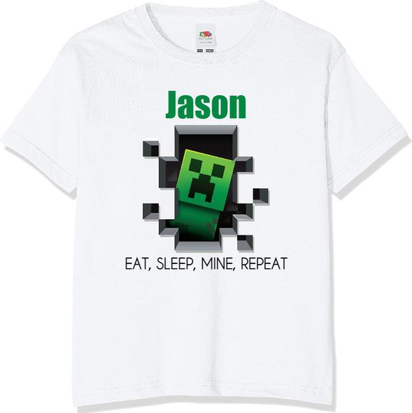 Personalised Minecraft T-shirt
