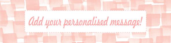 Personalised Pastel Pink Banner
