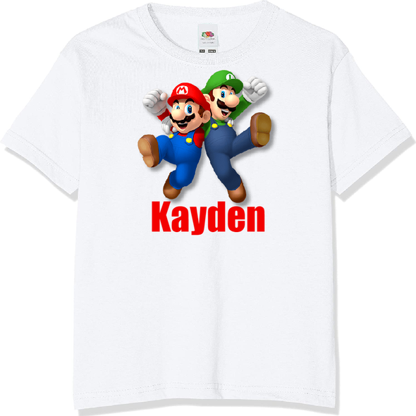 Personalised Super Mario T-shirt
