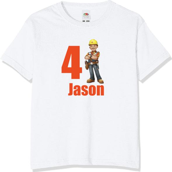 Personalised Bob The Builder T-shirt