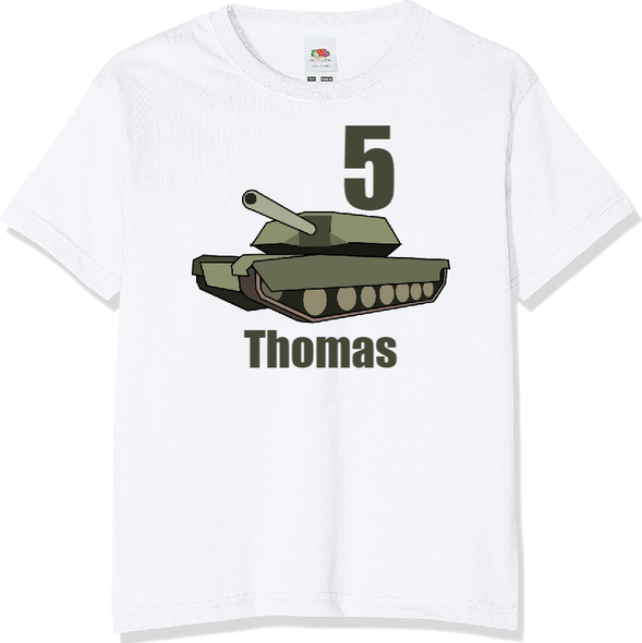 Personalised Army Tank T-shirt
