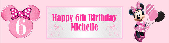Personalised Minnie Mouse Bowtique Banner