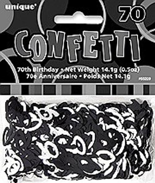70th Black Confetti