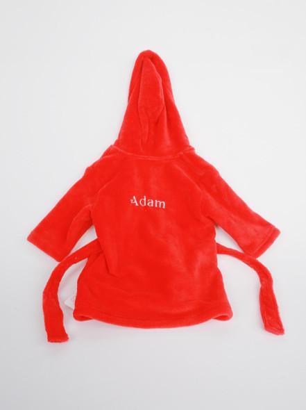 Personalised Red Bathrobe