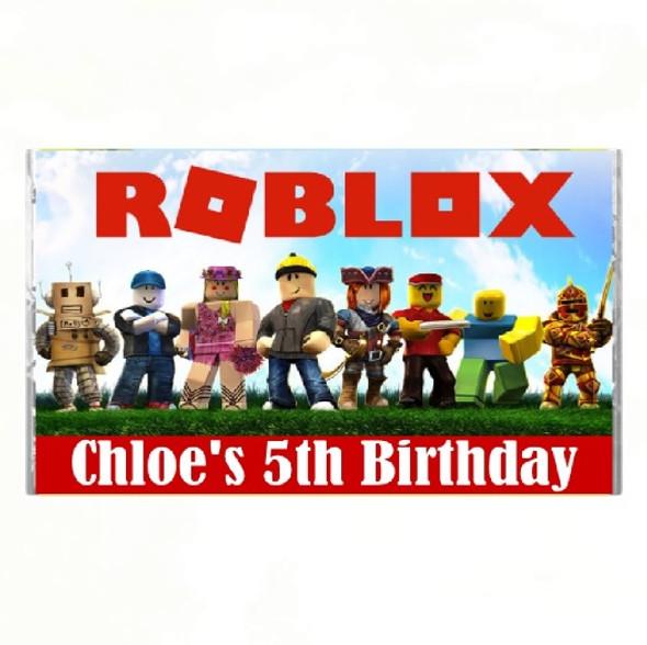 7Pk Personalised Roblox Chocolate Bars