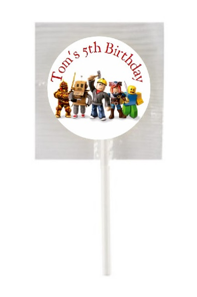 15Pk Personalised Roblox Lollipops