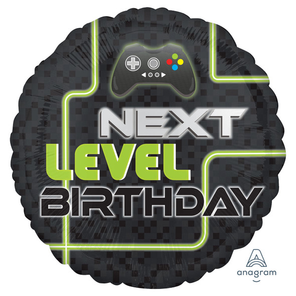 Level Up Birthday Foil Balloon
