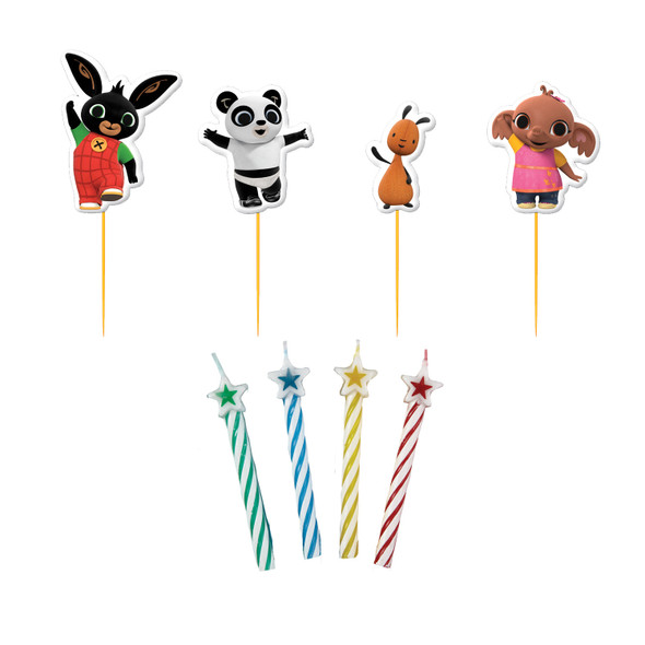 Bing Character Picks with Candles