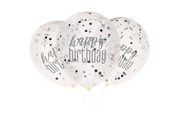 Black Confetti Balloon