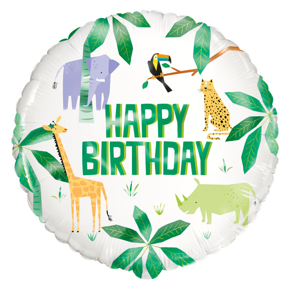 Safari Animals Foil Balloon
