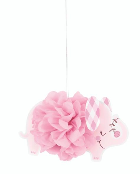 Pink Elephant Puff Decorations