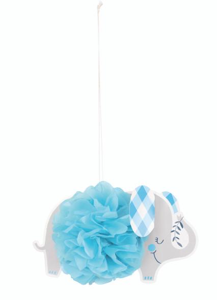 Blue Elephant Puff Decorations