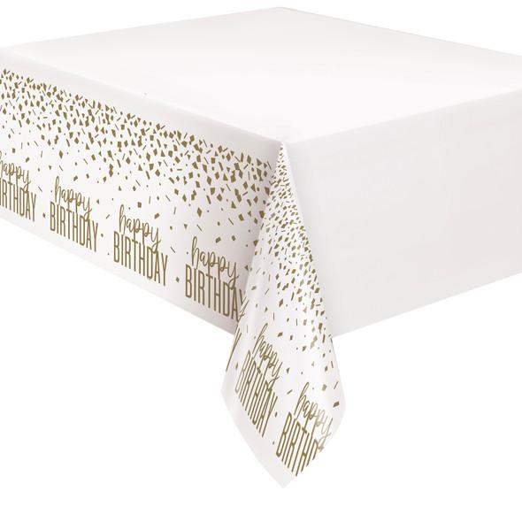 Gold Confetti Birthday Tablecover