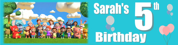 Personalised Cocomelon Banner