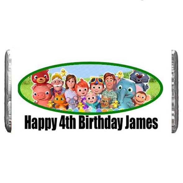 7PK Personalised Cocomelon JJ Chocolate Bars