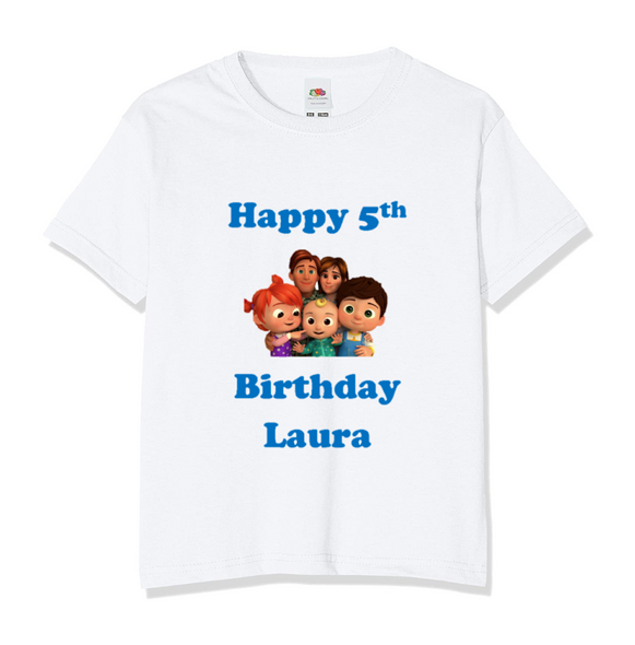 Personalised Cocomelon Family T-shirt