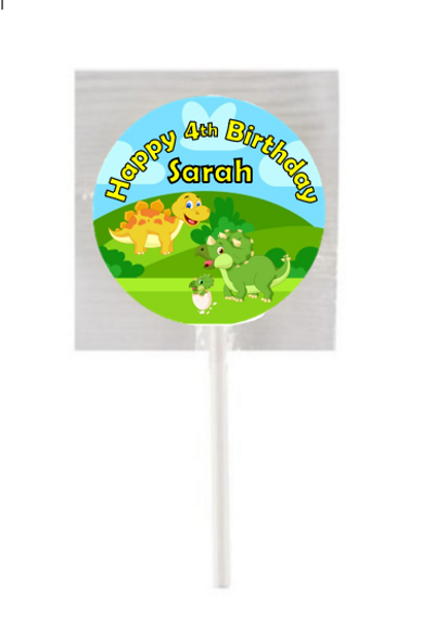 15Pk Dinosaur Lollipops
