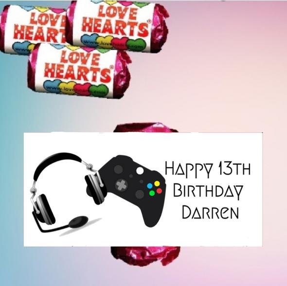 9Pk Gamer Loveheart Sweets