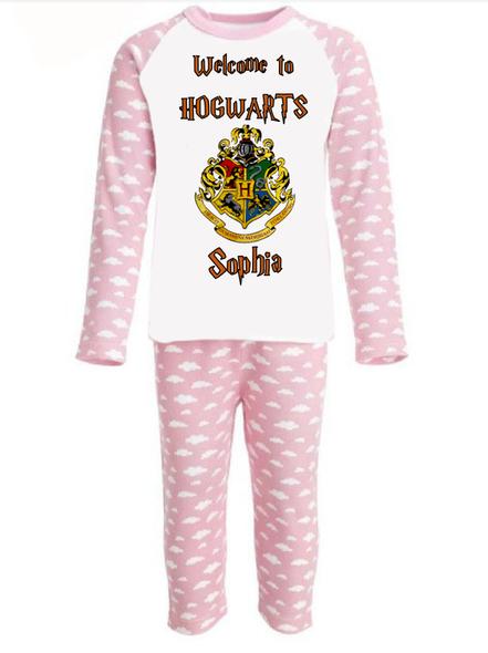 Personalised Hogwarts Girl Pyjamas