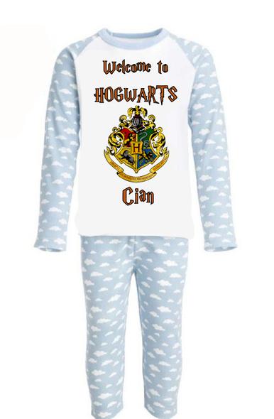 Personalised Hogwarts Boy Pyjamas