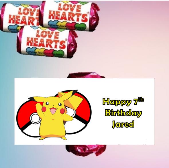 9Pk Pokemon Loveheart Sweets