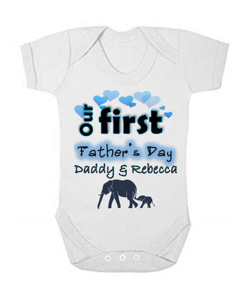 Our First Father's Day Baby Vest