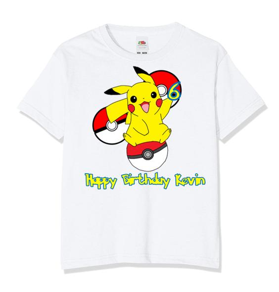 Personalised Pikachu T-shirt