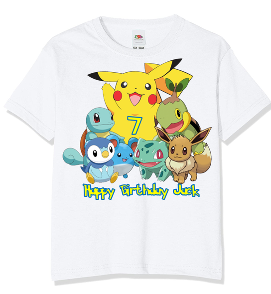 Personalised Pokemon T-shirt