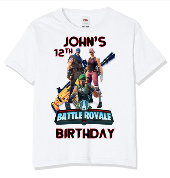 Personalised Fortnite Battle Royale T-Shirt