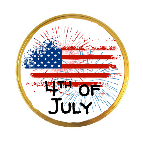 15PK Personalised 4th of July Chocolate Coins