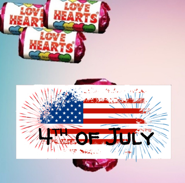 9PK 4th of July Loveheart Sweets