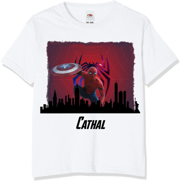 Personalised Spiderman Avengers T-Shirt