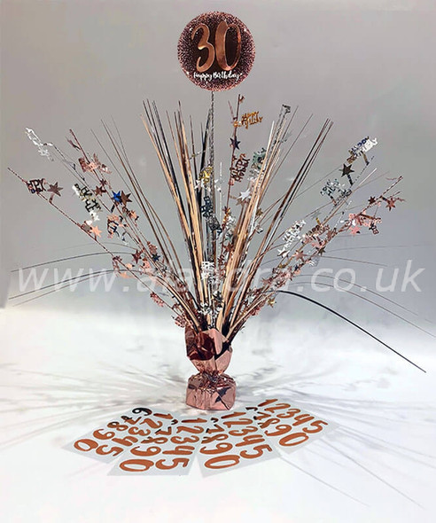 Personalised Rose Gold Centre Piece Any Age