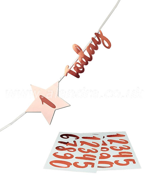 Personalised Rose Gold Any Age 'Today' Bunting