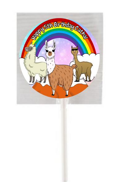 15PK Llama Lollipops