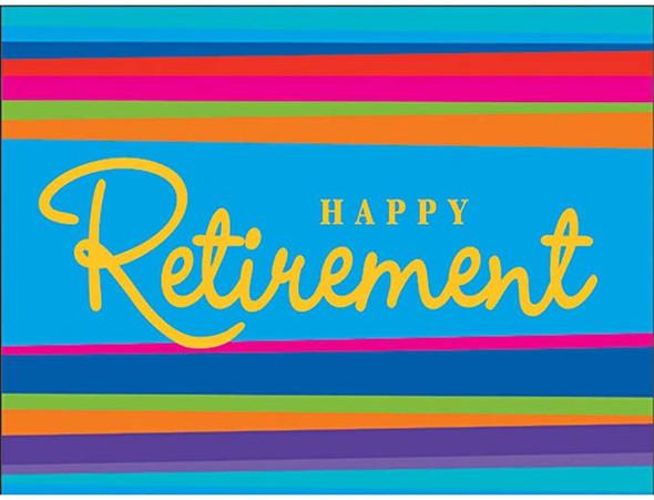 Retirement Stripes Invitations